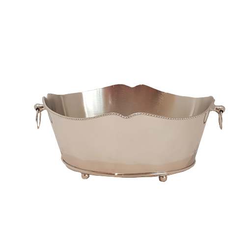 Silver Small Oval Bucket