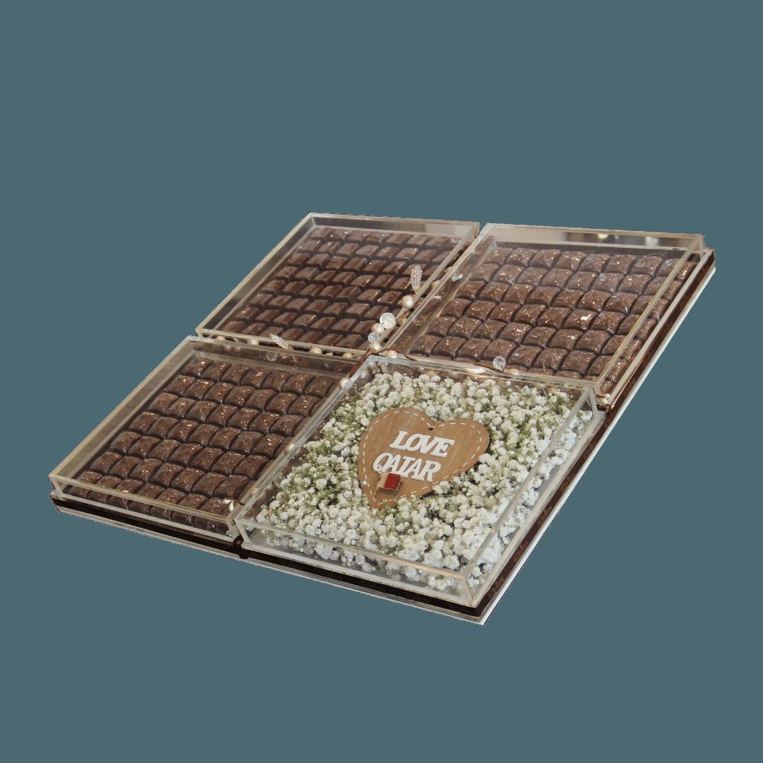 Personalized Chocolate Tray 2 Chocolates