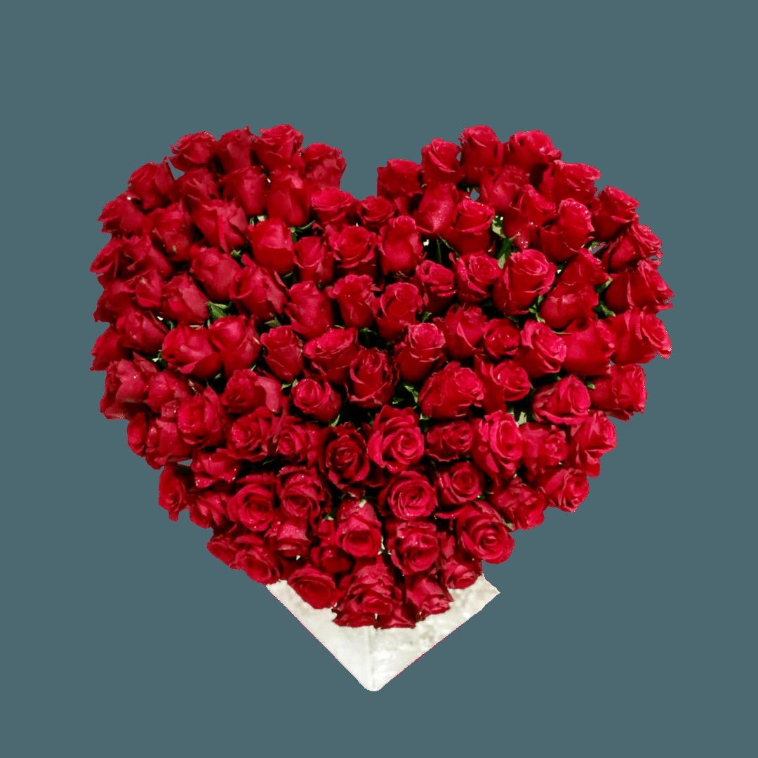 Heart Roses Flowers